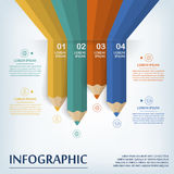 Education infographic template design Stock Photos
