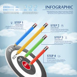 Education infographic template Royalty Free Stock Image