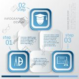 Education infographic template Royalty Free Stock Photography