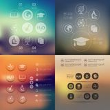 Education infographic with unfocused background Royalty Free Stock Photos