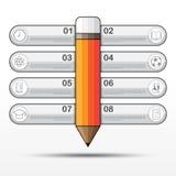 Education Infographic, Vector Work Stock Photos