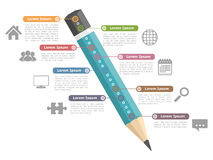 Education Infographics Stock Photography