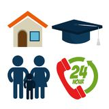 Education insurance service concept. Vector illustration graphic design Stock Images