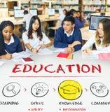 Education Intelligence Students Learning Concept stock photo