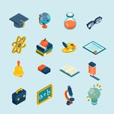 Education Isometric Set Royalty Free Stock Photos