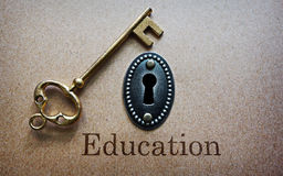 Education is the key Stock Image
