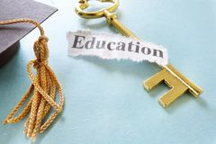 Education key Royalty Free Stock Images