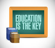 Education is the key sign illustration design Royalty Free Stock Image