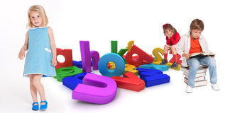 Education, kids Royalty Free Stock Images