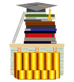 Education or Knowledge is The Best Investment ( on White Background) Stock Images