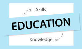 Education Knowledge Skills Learning Concept. Education Knowledge Skills Learning Graphics Concept Royalty Free Stock Photos