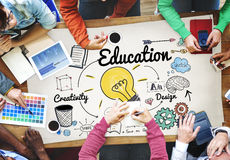Education Knowledge Studying Learning University Concept.  stock photo