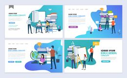 Education landing pages Stock Illustration