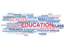 Education and learning. Word cloud concept Royalty Free Stock Photo