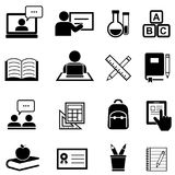 Education, learning and back to school icons. Education, learning and back to school icon set Stock Photography