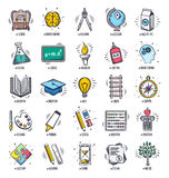 Education and Learning Doodle Icon Set Royalty Free Stock Photo