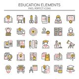Education Elements , Thin Line and Pixel Perfect Icons vector illustration