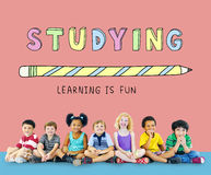 Education Learning Is Fun Children Graphic Concept Royalty Free Stock Photography