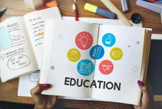 Education Learning Icon Set Concept Stock Photos