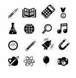 Education and learning icon set Royalty Free Stock Photo