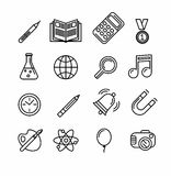 Education and learning icon set Stock Image