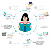 Education and learning infographic Stock Photography