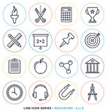 Education & learning line icons set. Stock Photography