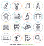 Education & learning line icons set Royalty Free Stock Photography