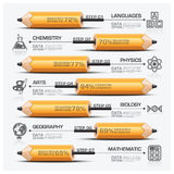Education And Learning Pencil Of Subject Step Infographic Diagra. M Vector Design Template Royalty Free Stock Photos