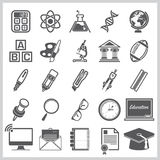 Education And Learning Sign Symbol Icon Set Royalty Free Stock Photography
