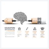 Education And Learning Step Infographic With Carve Brain Shape  Stock Image
