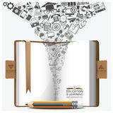 Education And Learning Step Infographic With Notebook Icon Stock Photo