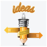 Education And Learning Step Infographic With Spiral Arrow Pencil Royalty Free Stock Photo