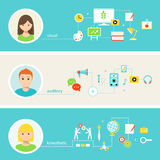 Education and Learning Styles Illustration Stock Photo
