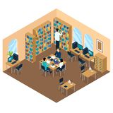 Education Library Isometric Student Composition Stock Photography