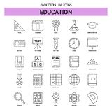 Education Line Icon Set - 25 Dashed Outline Style. This Vector EPS 10 illustration is best for print media, web design, application design user interface and stock illustration
