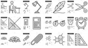 Education line icon set. Stock Photography
