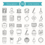 Education Line Icons. Set of 30 education line icons Royalty Free Stock Photography