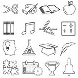 Education line icons set Stock Image