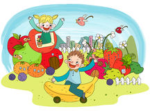 Education Line Illust Royalty Free Stock Images