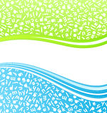 Education lined art background Royalty Free Stock Images