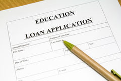 Education loan application. Stock Images