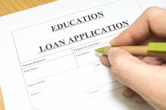 Education loan application. Stock Photo