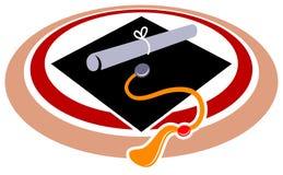 Education logo. Isolated line art education logo design Stock Images