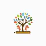 Education. Logo design original concept Royalty Free Stock Images