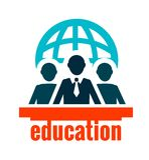 Education logo Royalty Free Stock Photography