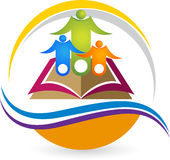 Education logo. Illustration art of a education logo with  background Stock Photo