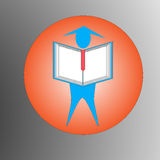 Education logo Royalty Free Stock Photo