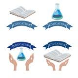 Education logo set.Vector  illustration.Eps 10 Royalty Free Stock Image