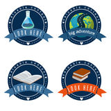 Education logo set vector  illustration. Stock Photo